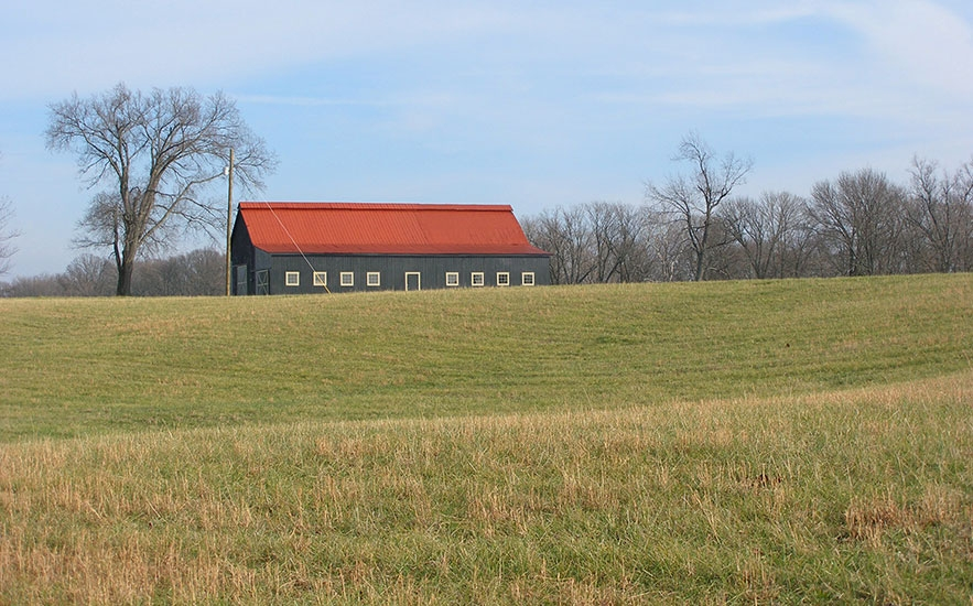 Landscape architecture by Shadley Associates at Kentucky farm, barn