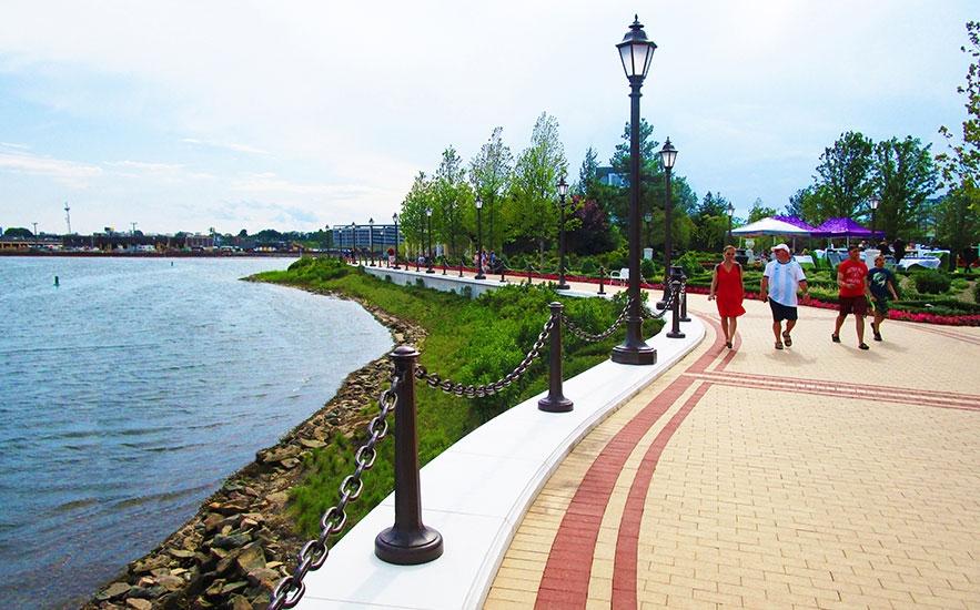 Encore Boston Harbor living shoreline landscape architecture by Shadley Associates