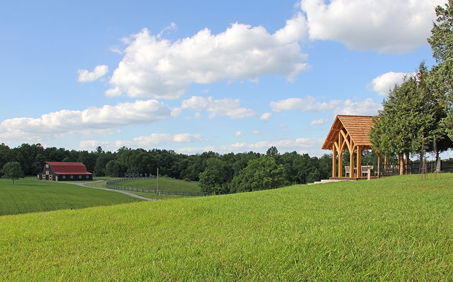 Landscape architecture by Shadley Associates at Kentucky farm